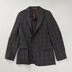 Banana Republic Grey Checkered Sports Coat 36R